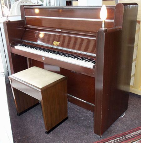 piano pavilion berry art deco upright piano for sale in essex. Black Bedroom Furniture Sets. Home Design Ideas