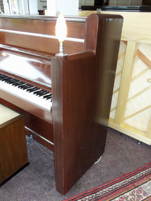 Piano Pavilion Berry Art Deco Upright Piano For Sale In
